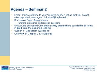 Agenda – Seminar 2
