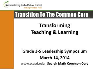 Transition To The Common Core