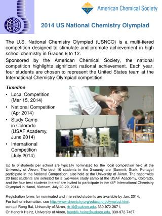 2014 US National Chemistry Olympiad
