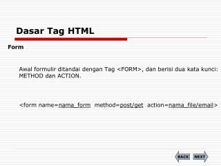 Dasar Tag HTML