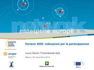 Horizon 2020: indicazioni per la partecipazione
