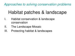 Habitat patches & landscape