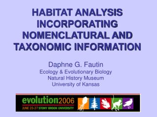 HABITAT ANALYSIS INCORPORATING NOMENCLATURAL AND TAXONOMIC INFORMATION