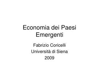 Economia dei Paesi Emergenti