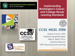 Implementing Washington's Career- and College-Ready Learning Standards