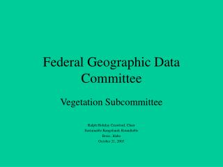 Federal Geographic Data Committee