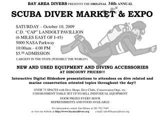 SCUBA DIVER MARKET & EXPO