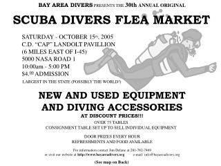 SCUBA DIVERS FLEA MARKET