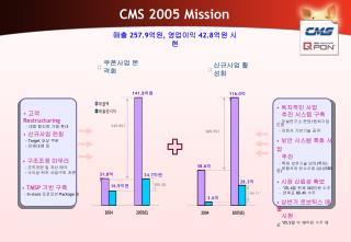 CMS 2005 Mission