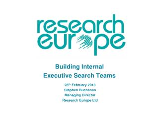 Building Internal  Executive Search Teams