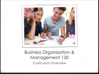 Business Organization & Management 120