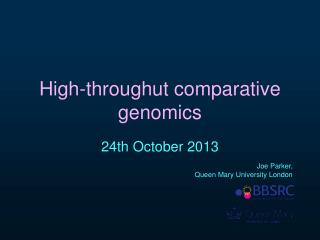High-throughut comparative genomics