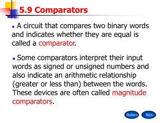 5.9 Comparators