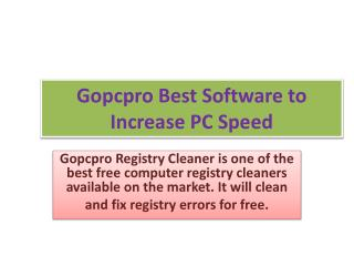 Gopcpro Registry Cleaner