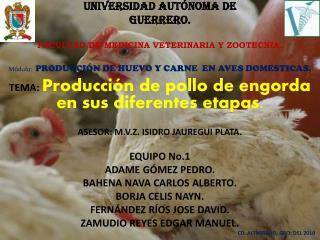 UNIVERSIDAD AUT�NOMA  DE GUERRERO. FACULTAD DE MEDICINA VETERINARIA Y ZOOTECNIA.