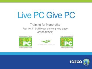 Training for Nonprofits Part I of II: Build your online giving page 40320AE8CF