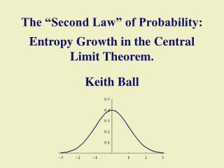 "The ""Second Law"" of Probability: Entropy Growth in the Central Limit Theorem. Keith Ball"