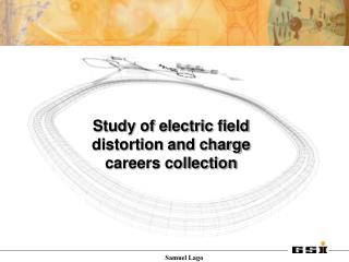 Study of electric field distortion and charge careers collection