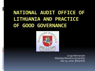 National audit office of Lithuania and practice of good governance