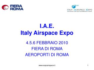 I.A.E.  Italy Airspace Expo