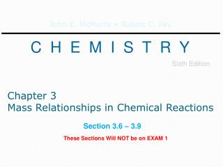 Chapter 3 Mass Relationships in Chemical Reactions
