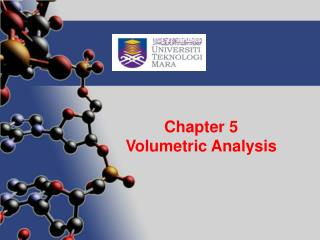 Chapter 5 Volumetric Analysis