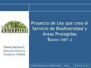 Proyecto de Ley que crea el Servicio de Biodiversidad y Áreas Protegidas  B oletín 7487 -2