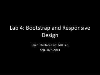 Lab  4: Bootstrap and Responsive Design