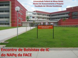 Encontro de Bolsistas de IC  do  NAPq  da FACE