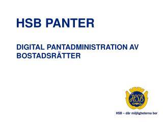 Hsb  panter