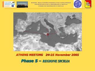 Phase 5 –  REGIONE SICILIA