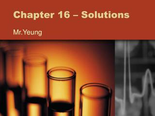 Chapter 16 � Solutions