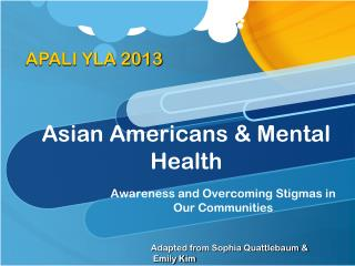 Asian Americans & Mental Health
