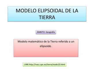 MODELO ELIPSOIDAL DE LA TIERRA