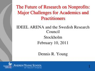 The Future of Research on Nonprofits: Major Challenges for Academics and Practitioners
