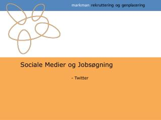 Sociale Medier og Jobs�gning