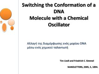 Switching the Conformation of a DNA Molecule with a Chemical Oscillator