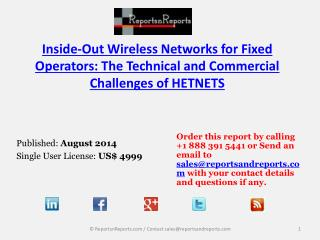 Inside-Out Wireless Networks Market – Commercial Challenges