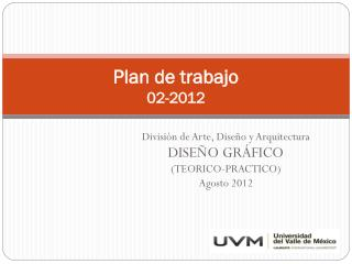 Plan de trabajo 02-2012