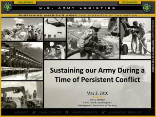 Sustaining our Army During a Time of Persistent Conflict