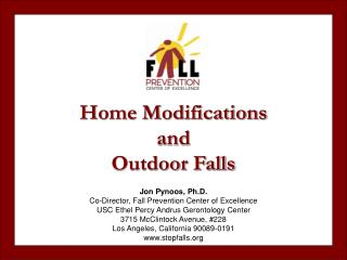 Home Modifications and Outdoor Falls