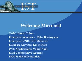 Welcome Micronet!