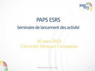 PAPS ESRS