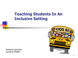 Teaching Students In An Inclusive Setting