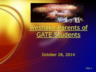Westlake Parents of GATE Students
