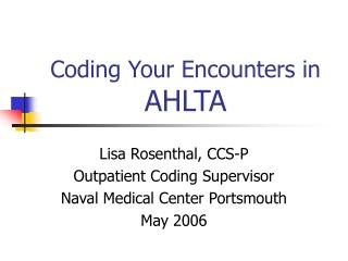Coding Patient Encounters