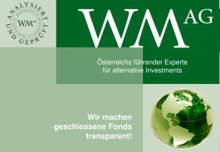 Wir machen  geschlossene Fonds  transparent!