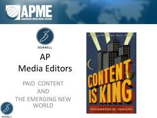 AP  Media Editors
