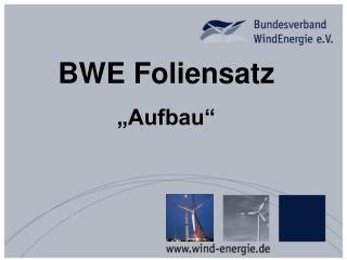 """BWE Foliensatz """"Aufbau"""""""