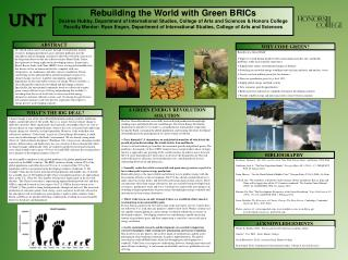 Rebuilding the World with Green BRICs